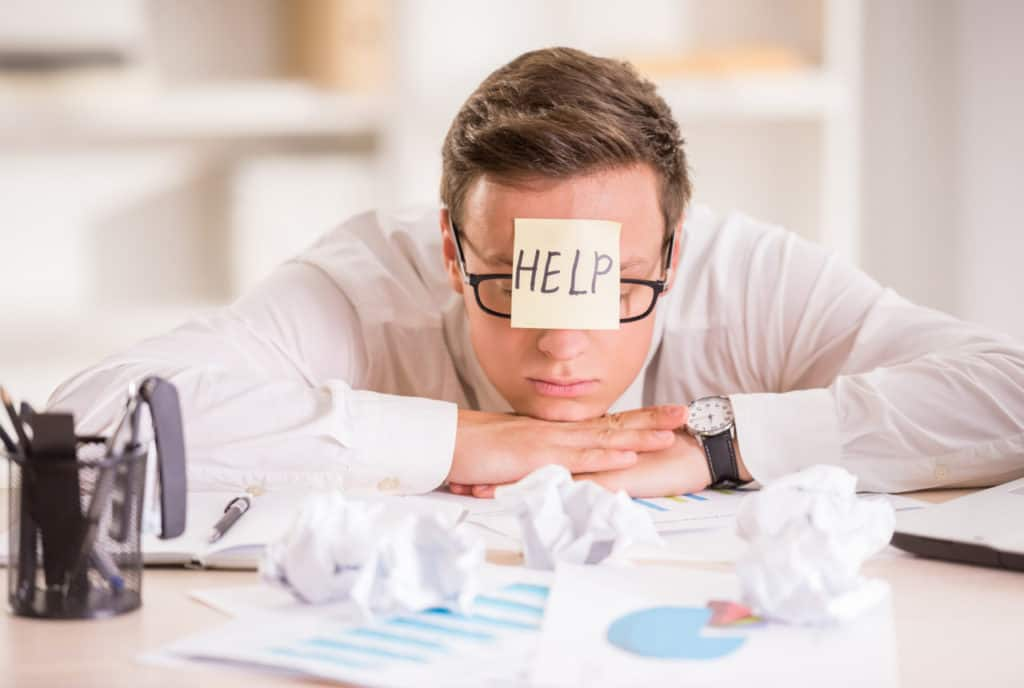 Forretningsmand i problemer - har brug for hjælp